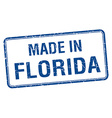 made in Florida blue square isolated stamp vector image vector image