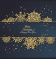 merry christmas and happy new year 2018 greeting vector image vector image