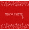 Merry Christmas Pattern with Holiday Elements vector image vector image