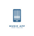 music app logo vector image vector image