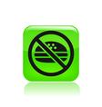 no food icon vector image vector image