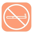 No smoke icon Stop smoking symbol vector image