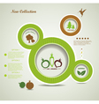 Organic food bubbles vector image vector image
