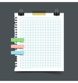 Paper sheet torn from a notebook vector image vector image