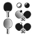 ping pong table tennis monochrome objects vector image vector image