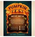 Pumpkin Fest Poster vector image vector image