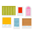 Realistic white plastic windows set vector image