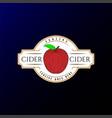 retro vintage apple cider badge label logo design vector image vector image