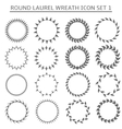 Round wreath set vector image vector image
