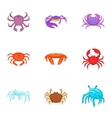 Seafood icons set cartoon style vector image vector image