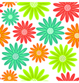 Seamless pattern with flowers endless floral vector image