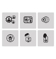 SEO internet marketing icons vector image vector image