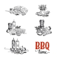 set barbecue and grill elements vector image