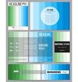 Set of templates for presentation brochure flyer vector image
