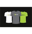 set of three t-shirts vector image