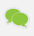 simple green icon - two thinking speech bubbles vector image