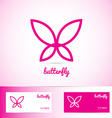 Simple pink butterfly for spa beauty and wellness vector image vector image