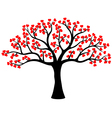 Stylized love tree made of hearts vector image vector image