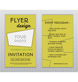 Summer yellow stylish flyer and brochure vector image