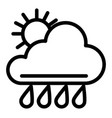 sun and rain line icon weather vector image vector image