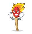 super hero match stick character cartoon vector image