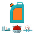 tanker pipe stop oil refinery canister with vector image vector image
