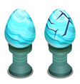 the egg is made of polished stone cracked vector image vector image