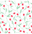 tulips flowers pattern seamless vector image vector image