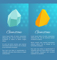 uncut natural gemstones vertical promo posters vector image vector image