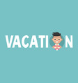vacation sign young adult with tan lines from vector image vector image