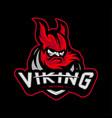viking esports logo design viking mascot gaming vector image