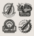 vintage craft beer prints vector image vector image
