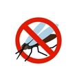 Warning sign with mosquito icon vector image vector image