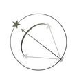 zodiac sign sagittarius vector image