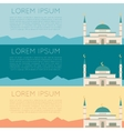 Set of muslim mosque banner1 vector image