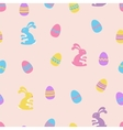 Easter Bunny and eggs seamless pattern vector image