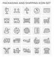 packaging shipping icon vector image