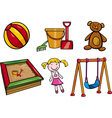 toys objects cartoon set vector image