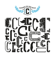 Stock set of monograms and initial letter C vector image