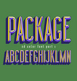 3d color font for product package design vector image