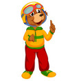 a cute bear character vector image