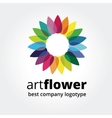 Abstract colored flower similar to sun logotype vector image vector image
