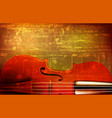 abstract grunge background with violin vector image vector image