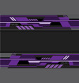 abstract violet black futuristic technology vector image vector image
