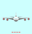 airplane it is icon vector image