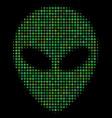 alien face halftone icon