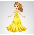Beauty Princess In Gold Dress vector image