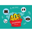 Big Sale Shopping Around the World vector image vector image