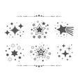 black different sets of abstract silhouette stars vector image vector image