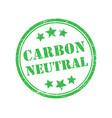 carbon-neutral green round retro style grunge seal vector image vector image